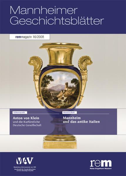 Mannheimer Geschichtsblätter. rem-magazin / Mannheimer Geschichtsblätter. rem-magazin - Coverbild