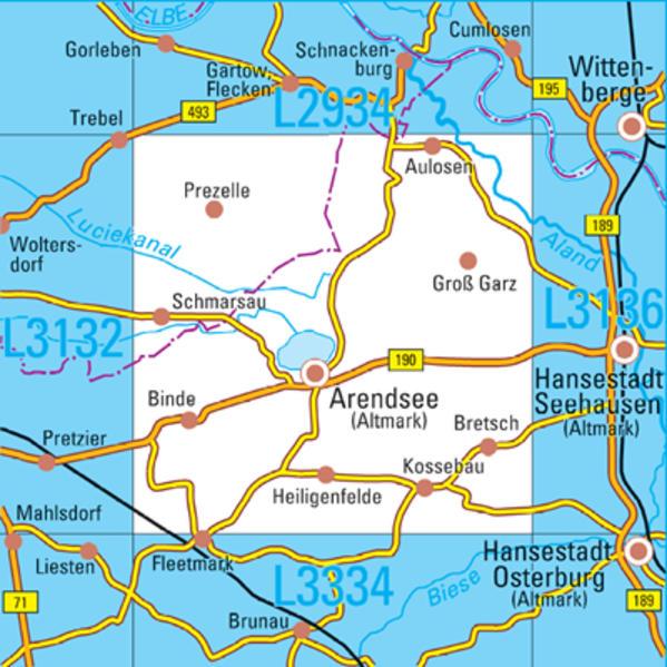 L3134 Arendsee (Altmark) Topographische Karte 1:50000 - Coverbild