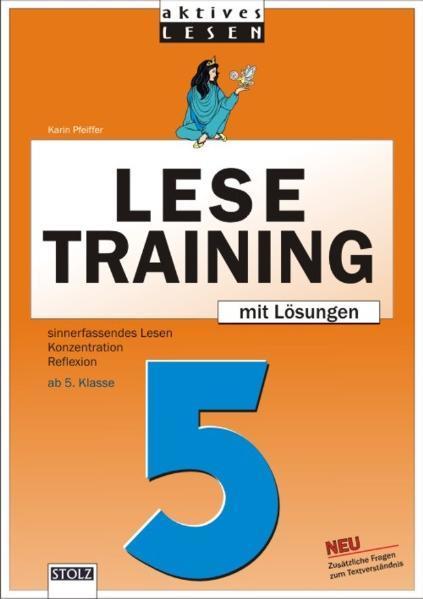 Lustiges Lesetraining 5. Schuljahr - Coverbild