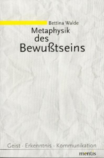 Metaphysik des Bewußtseins - Coverbild