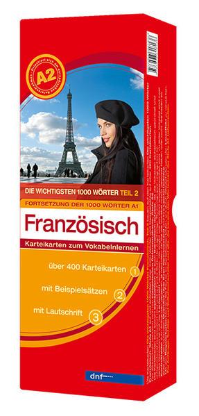 Karteikarten Die wichtigsten 1000 Wörter Französisch, Fortsetzung (Niveau A2) - Coverbild