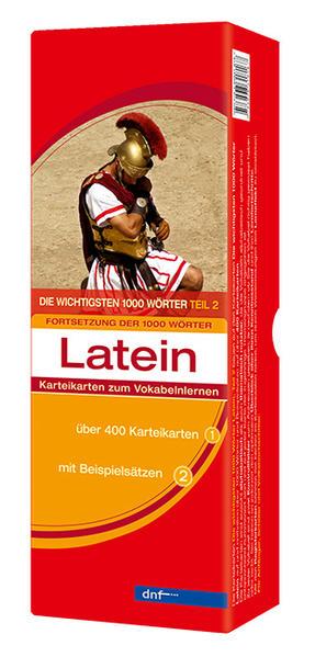 Karteikarten Die wichtigsten 1000 Wörter Latein, Fortsetzung (Niveau A2) - Coverbild