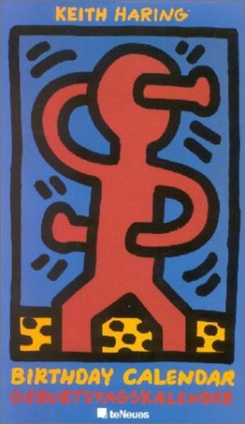 Keith Haring  Geburtstagskalender, immerwährendes Kalendarium - Coverbild