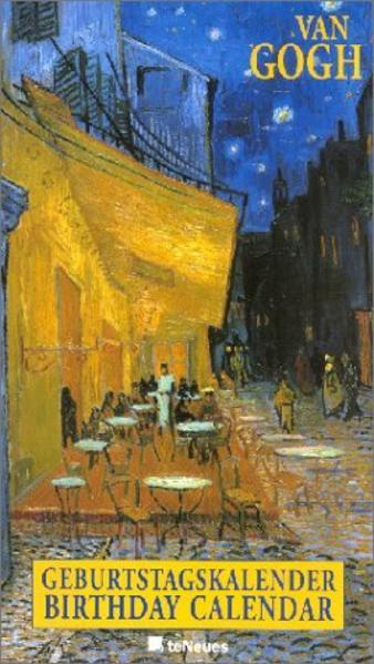 Vincent van Gogh Geburtstagskalender, immerwährendes Kalendarium - Coverbild