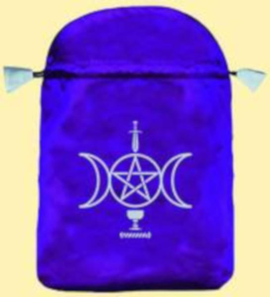 Tarot Beutel Wicca (Satin blau) - Coverbild