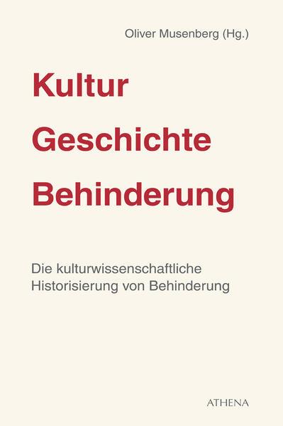 Kultur – Geschichte – Behinderung - Coverbild