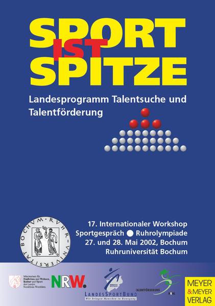 Sport ist Spitze - Landesprogramm Talentsuche und Talentförderung - Kongressband 2002 - Coverbild