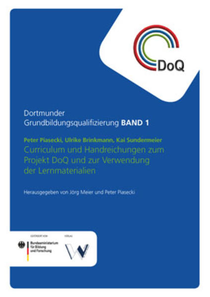 Curriculum und Handreichungen zum Projekt DoQ und zur Verwendung der Lernmaterialien - Coverbild