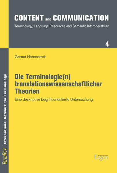 Die Terminologie(n) translationswissenschaftlicher Theorien - Coverbild