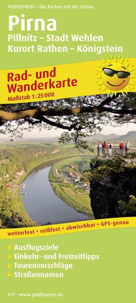 Pirna, Pillnitz - Stadt Wehlen - Kurort Rathen - Königstein - Coverbild