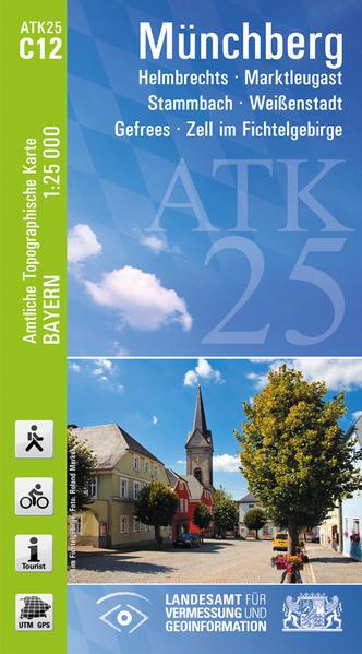 ATK25-C12 Münchberg (Amtliche Topographische Karte 1:25000) - Coverbild