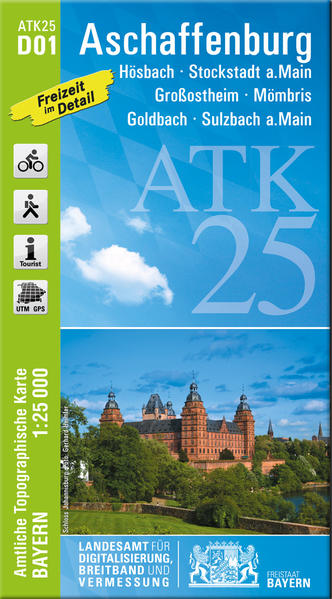 ATK25-D01 Aschaffenburg (Amtliche Topographische Karte 1:25000) - Coverbild