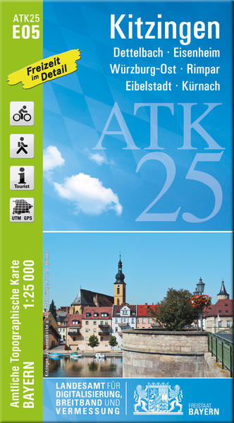 ATK25-E05 Kitzingen (Amtliche Topographische Karte 1:25000) - Coverbild