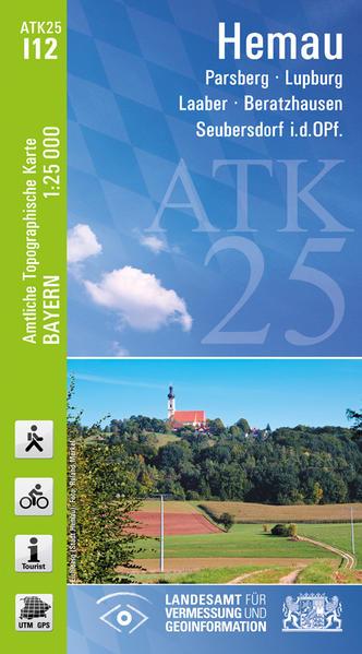 ATK25-I12 Hemau (Amtliche Topographische Karte 1:25000) - Coverbild