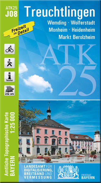 ATK25-J08 Treuchtlingen (Amtliche Topographische Karte 1:25000) - Coverbild