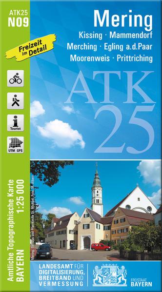 ATK25-N09 Mering (Amtliche Topographische Karte 1:25000) - Coverbild