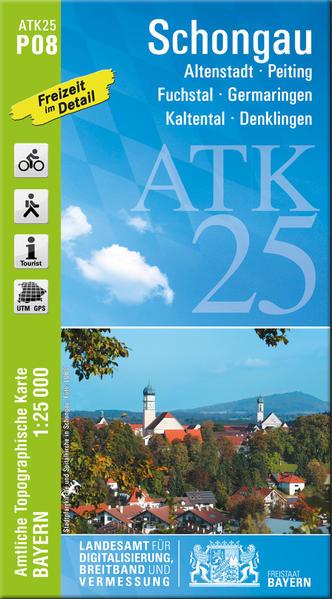 ATK25-P08 Schongau (Amtliche Topographische Karte 1:25000) - Coverbild