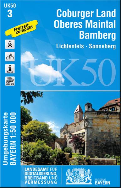 UK50-3 Coburger Land, Oberes Maintal, Bamberg - Coverbild