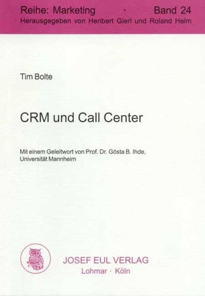 CRM und Call Center - Coverbild