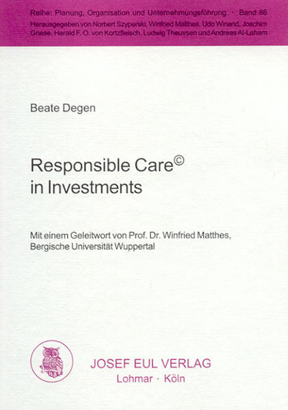 Responsible Care in Investments - Coverbild