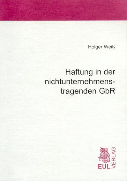 Haftung in der nichtunternehmenstragenden GbR - Coverbild