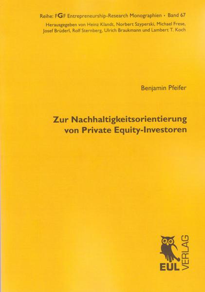Zur Nachhaltigkeitsorientierung von Private Equity-Investoren - Coverbild