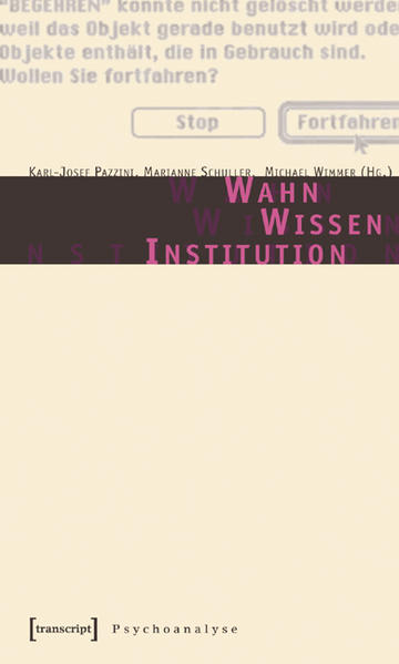 Wahn - Wissen - Institution - Coverbild