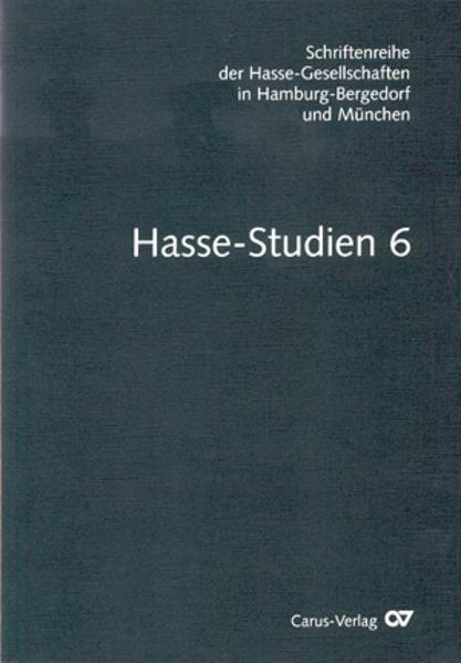 Hasse-Studien / Hasse-Studien - Coverbild