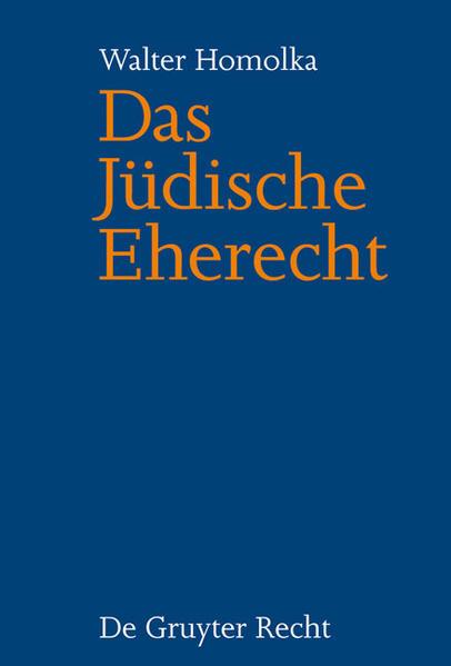 Das Jüdische Eherecht - Coverbild
