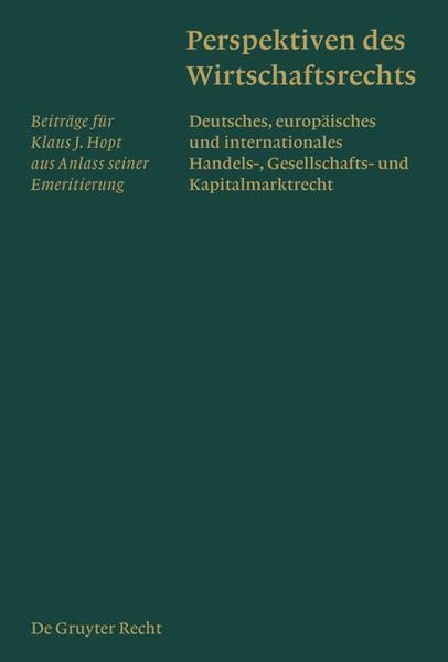 Perspektiven des Wirtschaftsrechts - Coverbild