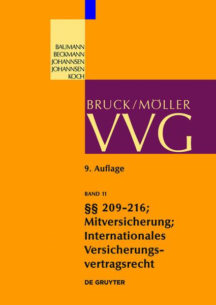 VVG / §§ 209-216 (Schlussvorschriften) - Coverbild