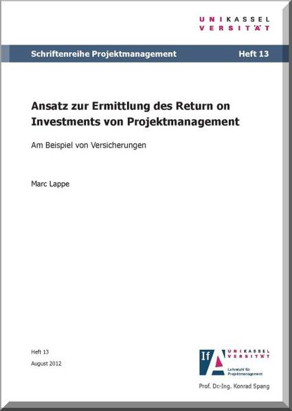 Ansatz zur Ermittlung des Return on Investments von Projektmanagement - Coverbild