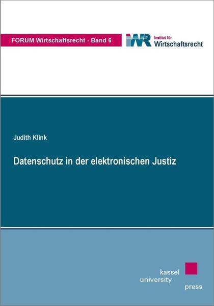 Datenschutz in der elektronischen Justiz - Coverbild
