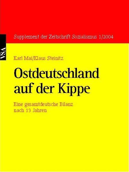 Ostdeutschland auf der Kippe - Coverbild