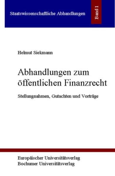 Abhandlungen zum öffentlichen Finanzrecht - Coverbild