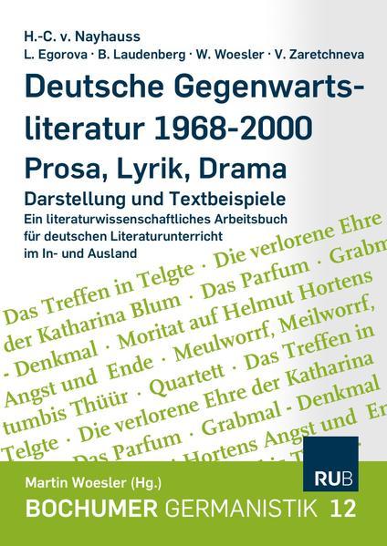 Deutsche Gegenwartsliteratur 1986-2000 - Prosa-Lyrik-Drama - Coverbild