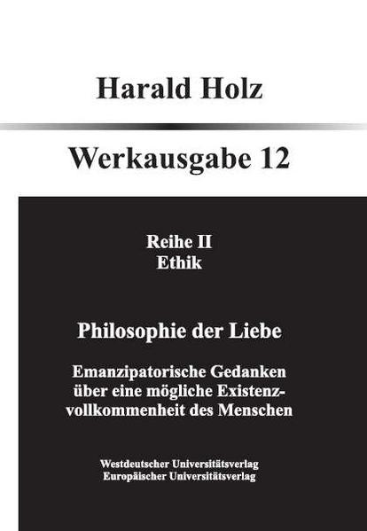 Philosophie der Liebe - Coverbild