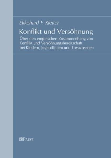 Konflikt und Versöhnung - Coverbild