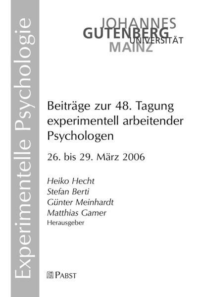 Beiträge zur 48. Tagung experimentell arbeitender Psychologen - Coverbild