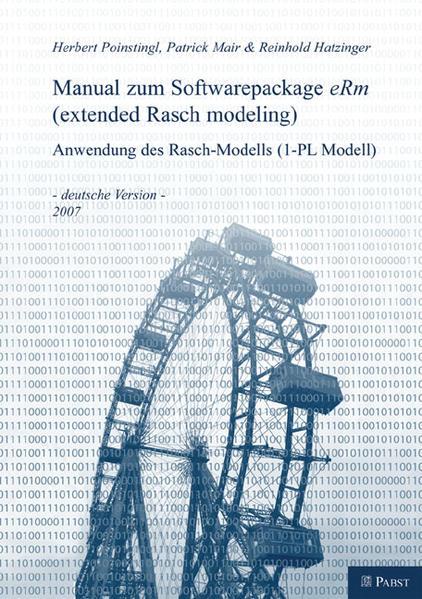 Manual zum Softwarepackage eRM (extended Rasch modeling) - Coverbild