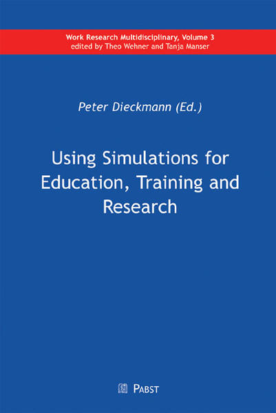 Using Simulations for Education, Training and Research - Coverbild