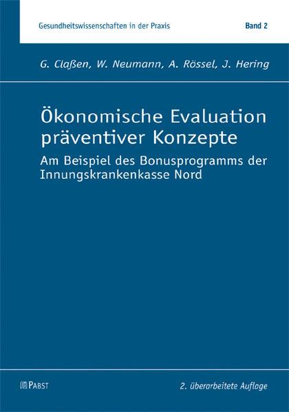 Ökonomische Evaluation präventiver Konzepte - Coverbild