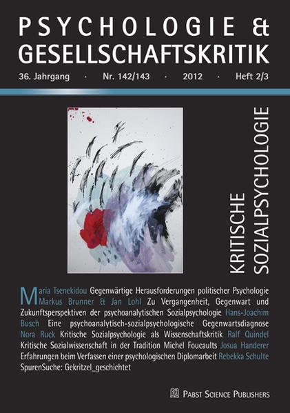Kritische Sozialpsychologie - Coverbild