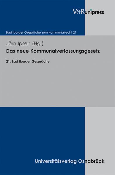 Das neue Kommunalverfassungsgesetz - Coverbild