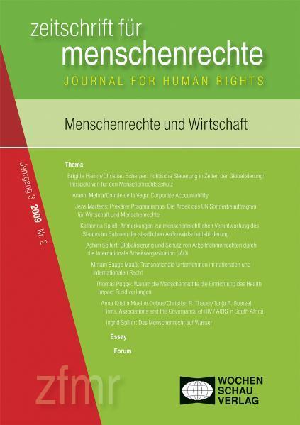 Menschenrechte und Wirtschaft - Coverbild