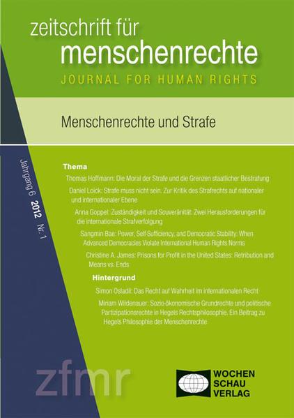 Menschenrechte und Strafe - Coverbild