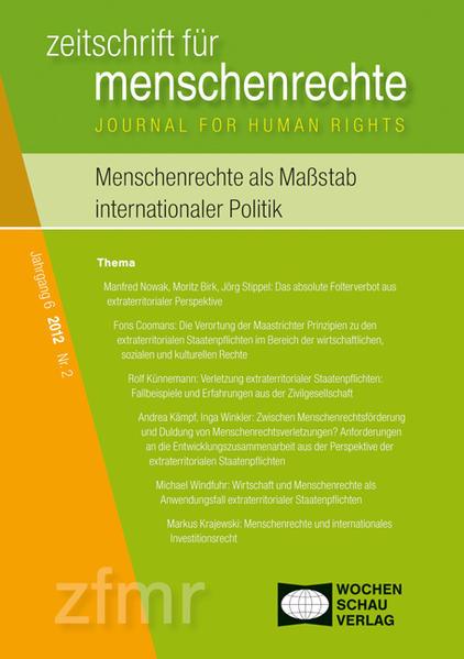 Menschenrechte als Maßstab internationaler Politik - Coverbild