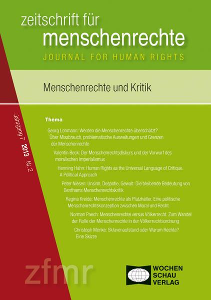 Menschenrechte und Kritik - Coverbild