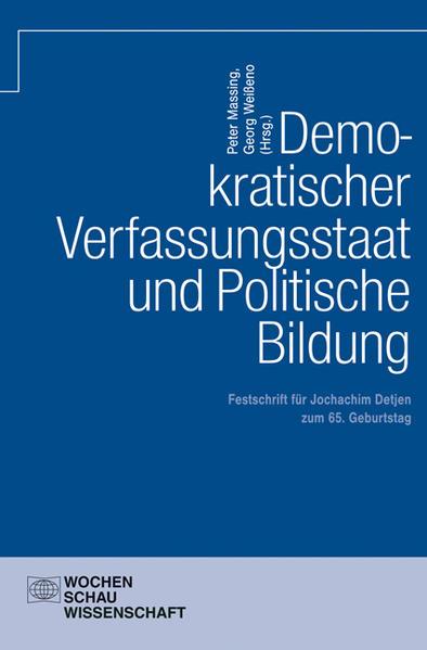 Demokratischer Verfassungsstaat und politische Bildung - Coverbild