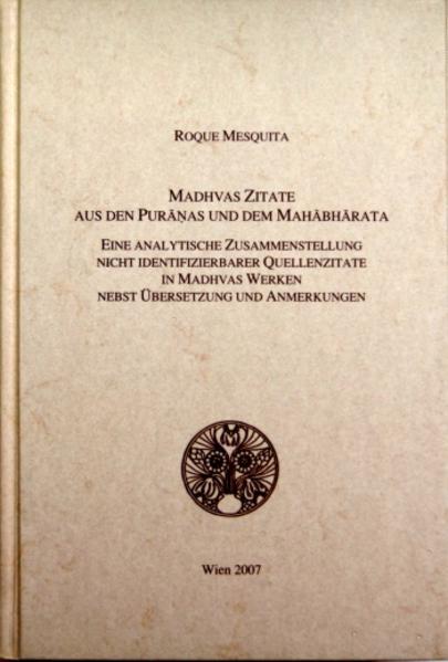 Madhvas Zitate aus den Puranas und dem Mahabharata - Coverbild